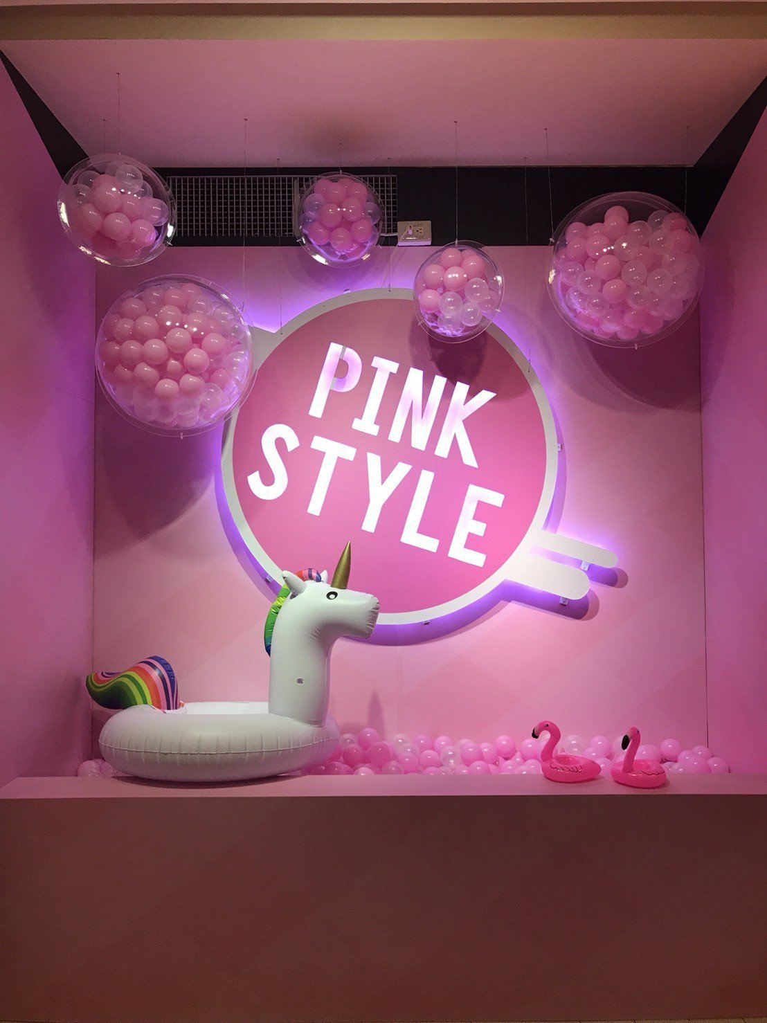 台中廣三SOGO百貨8樓規劃「獨角獸居住的粉紅夢幻球池」。圖/台中廣三SOGO提...