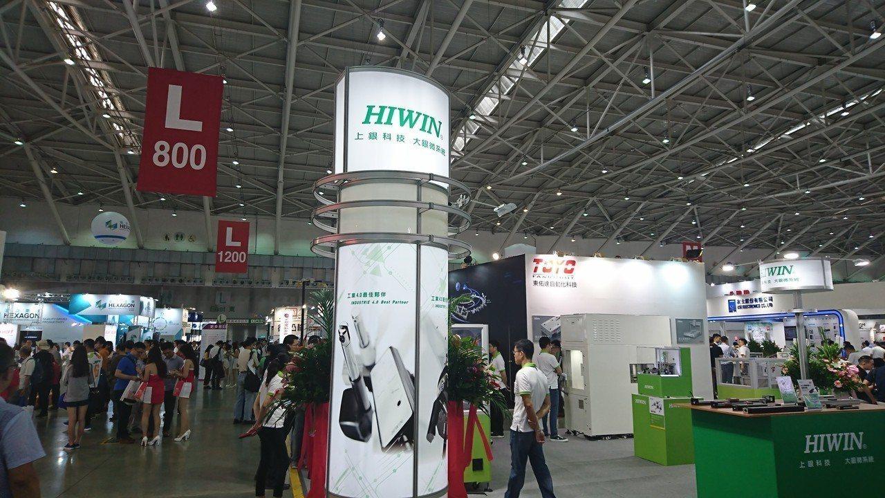 自動化工業大展今天開展,上銀展出商品吸引買家目光。記者黃淑惠/攝影