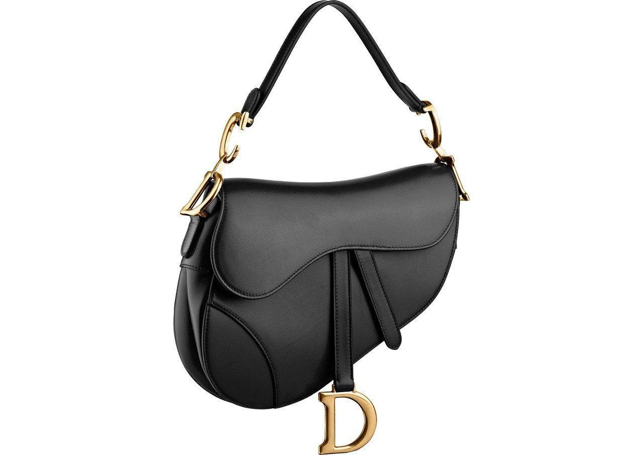 Saddle黑色中型馬鞍包,售價10萬3,000元。圖/Dior提供