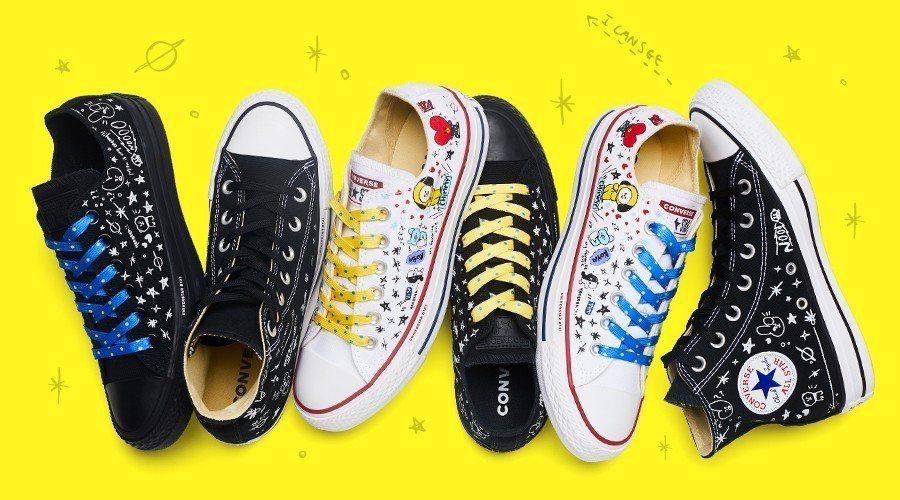 CONVERSE X BT21聯名鞋款,今天(8月1日)在LINE FRIEND...
