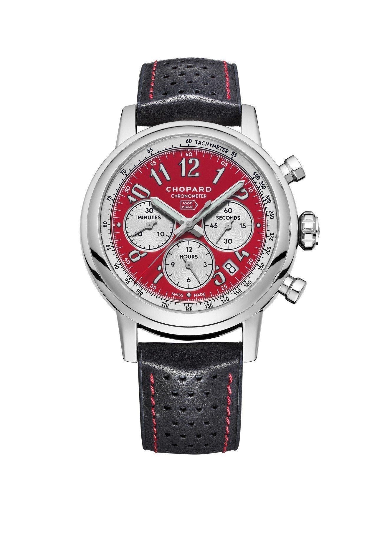 蕭邦Mille Miglia Racing Colours腕表,義大利紅色表盤搭...
