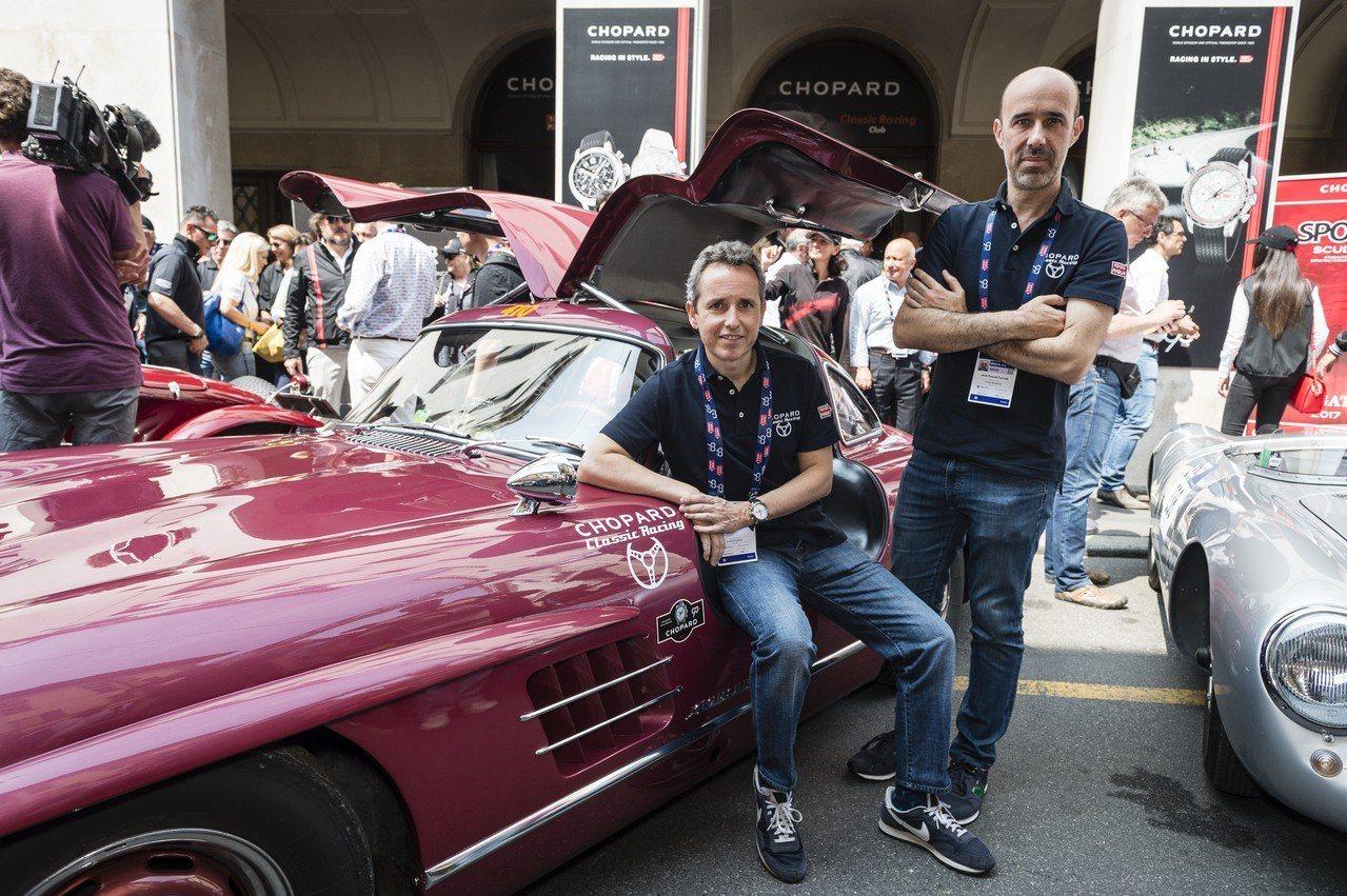 蕭邦表與Mille Miglia骨董車拉力賽合作,今年適逢30周年。圖/Chop...