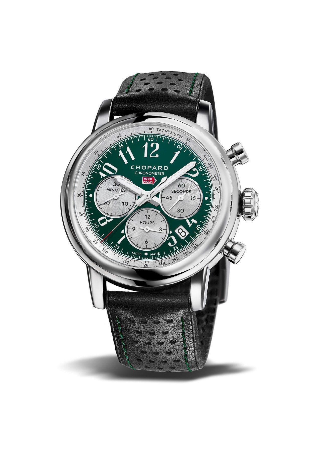 蕭邦Mille Miglia Racing Colours腕表,英國綠色表盤搭配...