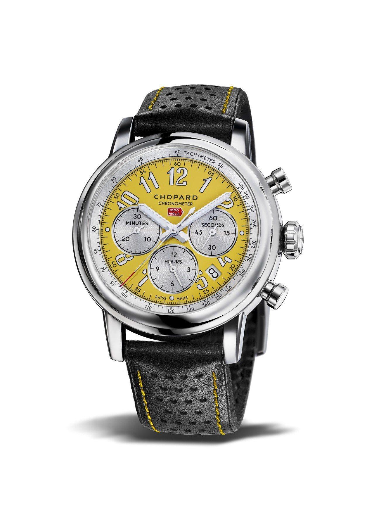 蕭邦Mille Miglia Racing Colours腕表,比利時黃色表盤搭...