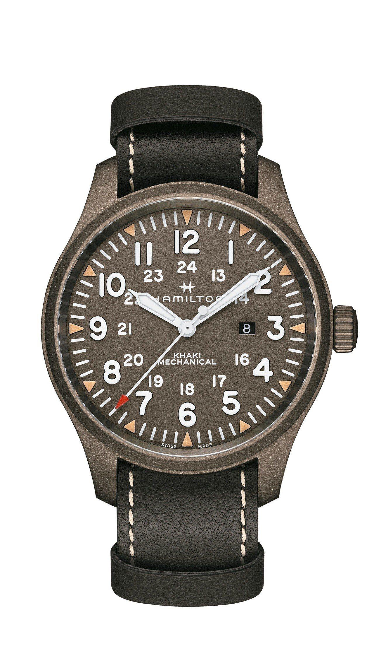 漢米爾頓Khaki Field陸戰50手上鍊腕表,搭載品牌專屬H-50機芯,全台...