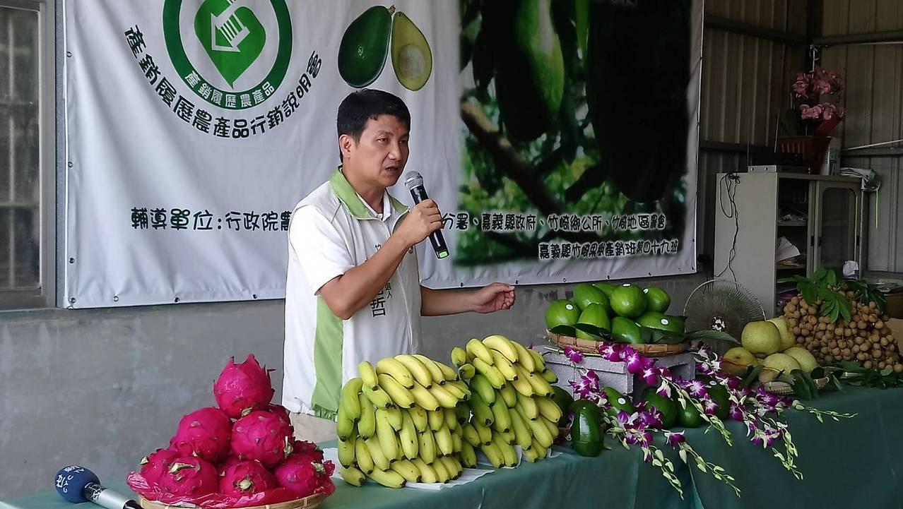 縣議員曾亮哲鼓勵大家多吃酪梨、常保幸福健康。記者卜敏正/攝影