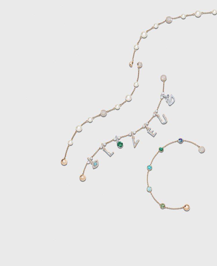 Swarovski Remix Collection 2018全新系列鍊飾透過字...