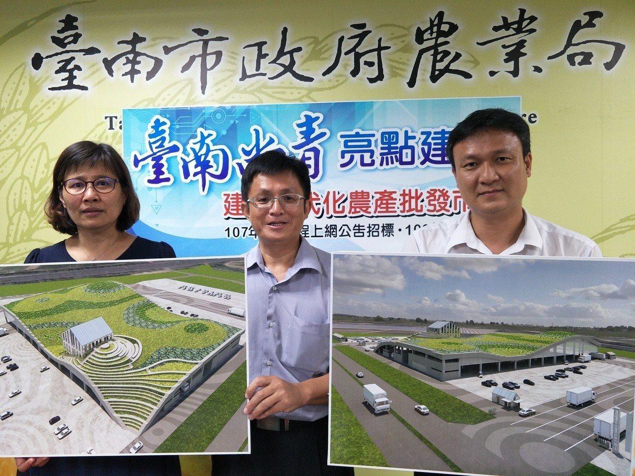 未來的台南新化果菜市場今首度曝光,將是座綠建築,圖為市場模型圖。記者謝進盛/攝影