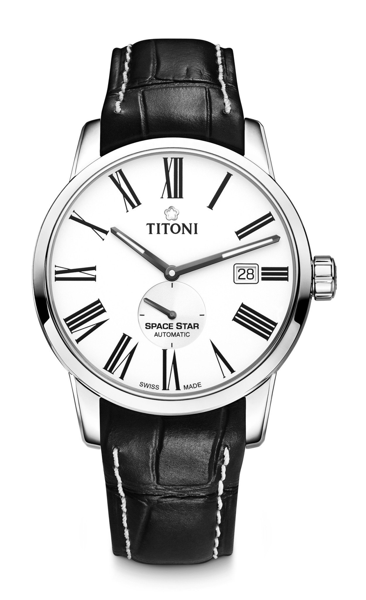 TITONI 梅花表 天星系列皮革表帶款,39,900元。圖/梅花表提供