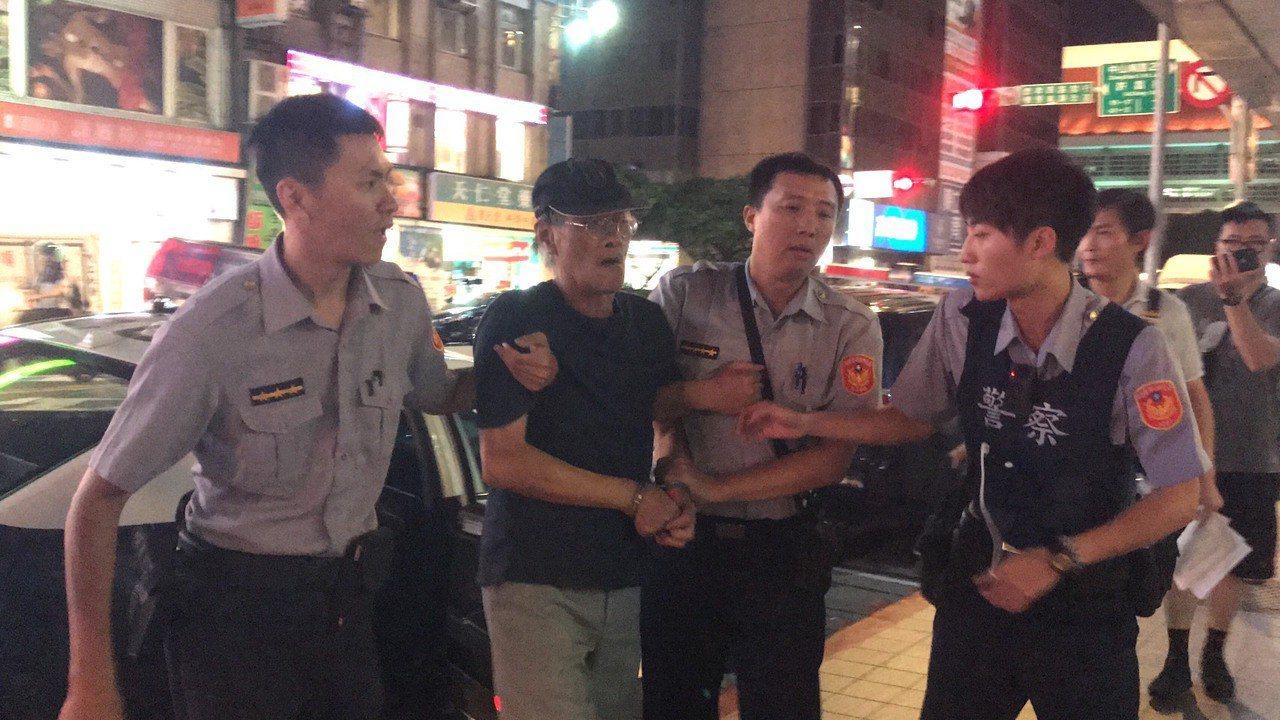 江姓男子揚言燒立法院。記者蕭雅娟/攝影