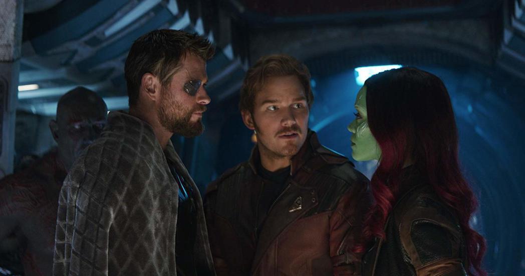 索爾與星爵、葛藦拉在「復仇者聯盟:無限之戰」有逗趣互動,演員之間卻為了「星際異攻...