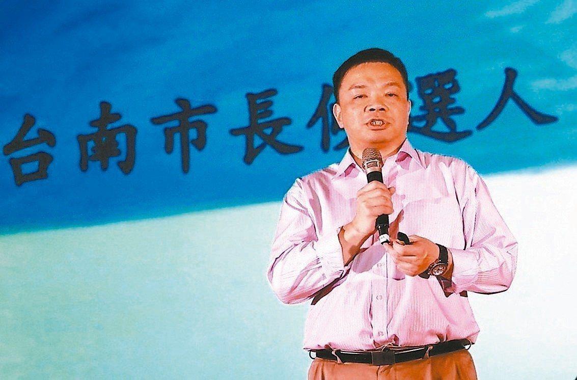 國民黨台南市長參選人高思博認為育兒新制是民進黨為選舉綁樁。 圖/聯合報系資料照片