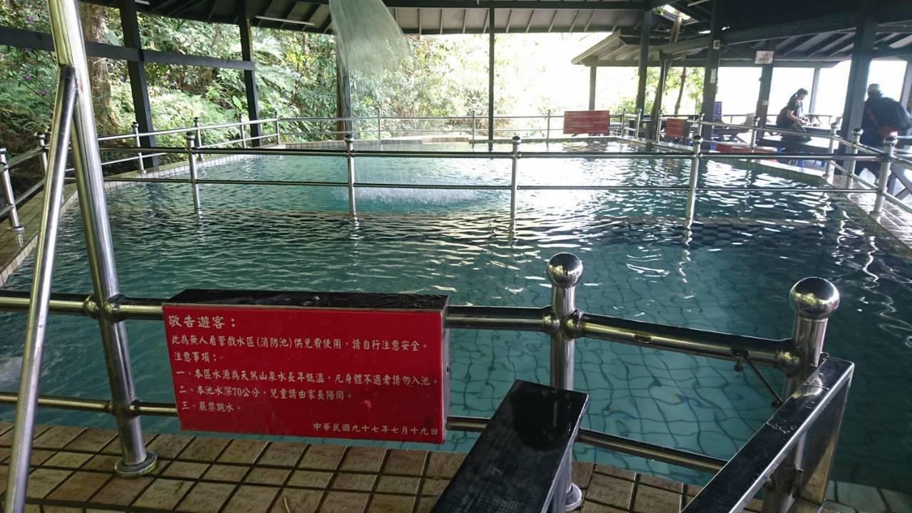 男童溺水的泳池。圖/消防局提供