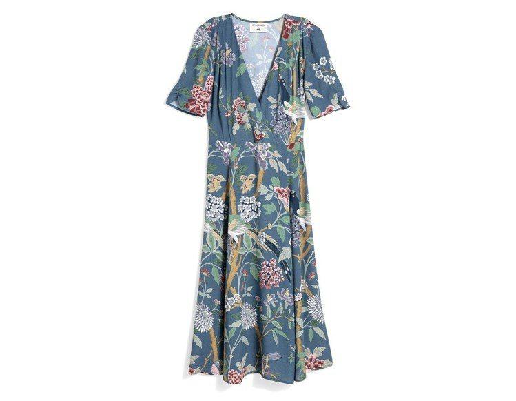 GP & J Baker與H&M聯名系列洋裝,約1,299元。圖/H&M提供