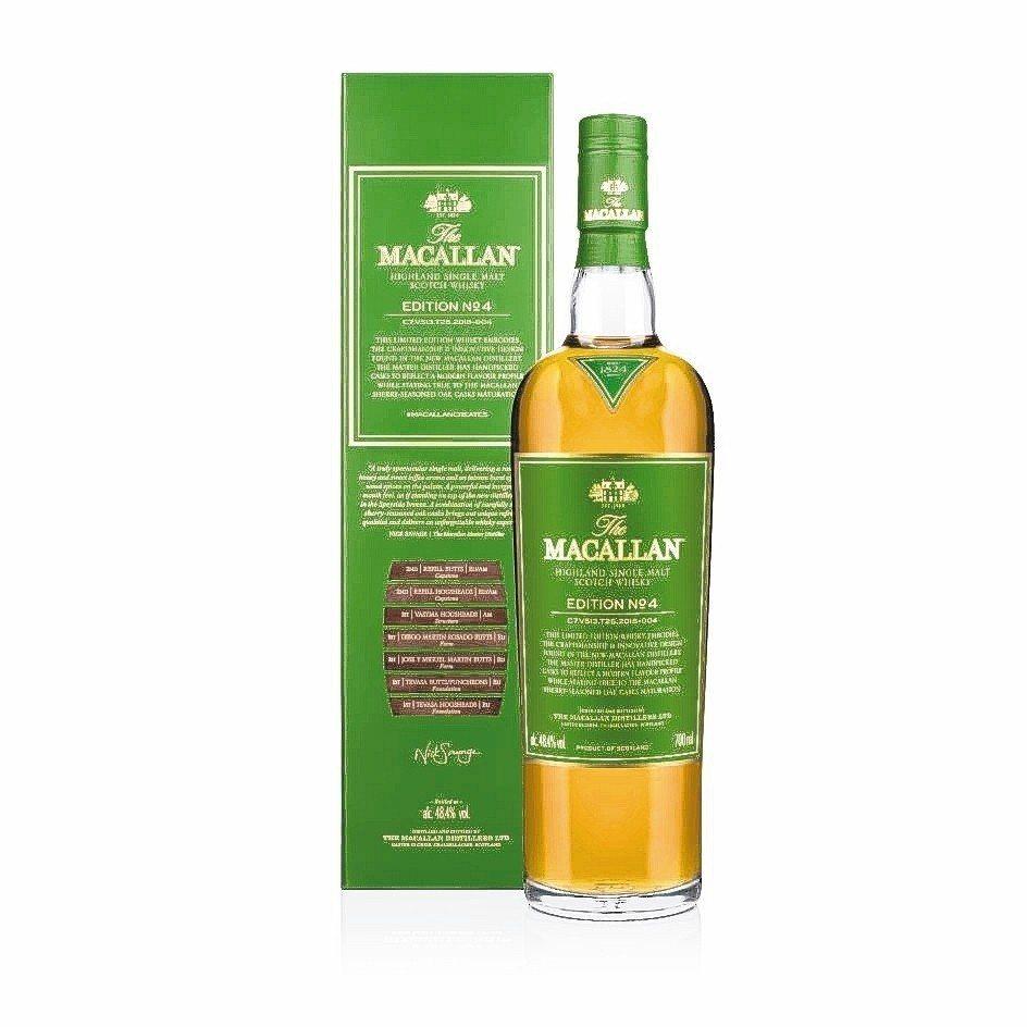 EDITION NO.4是一款充滿活力,勁道十足的單一麥芽威士忌。 愛丁頓/提供