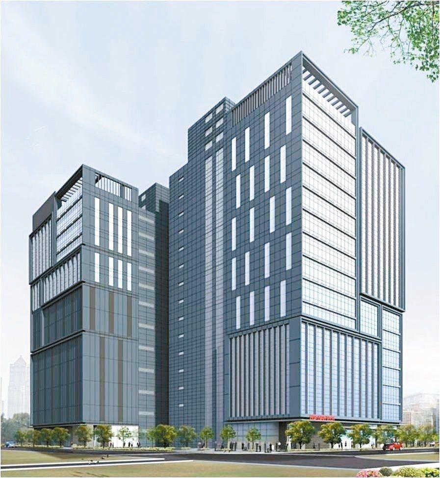 「華銀資訊大樓」暨「華南頂埔科技大樓」大樓外觀圖。 華南金控╱提供