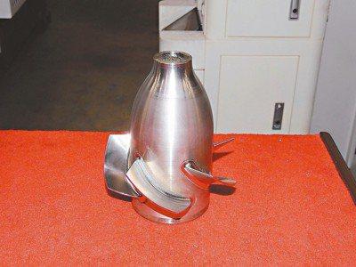 大連光洋科技旗下工廠生產軍用魚雷推進器零件。 記者杜宗熹/攝影