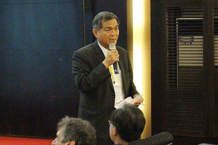 國研院人工智慧產學研聯盟召集人楊弘敦致詞。 國研院/提供