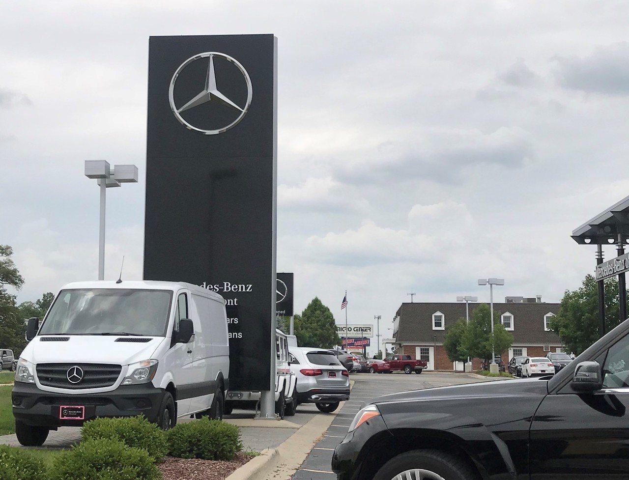 貿易戰波及車價,瑞柏市12.7億汽車銷售產業受衝擊。記者董宇/攝影