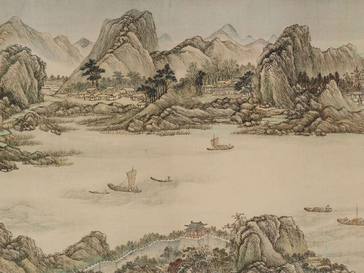 華人藏家贈波士頓美術館國畫長卷。