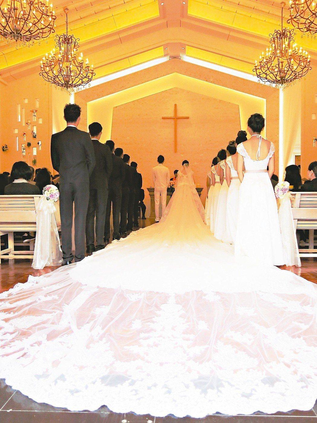 日月潭耶穌堂在活化委外後,成為新的婚禮熱門景點。 圖/聯合報系資料照片