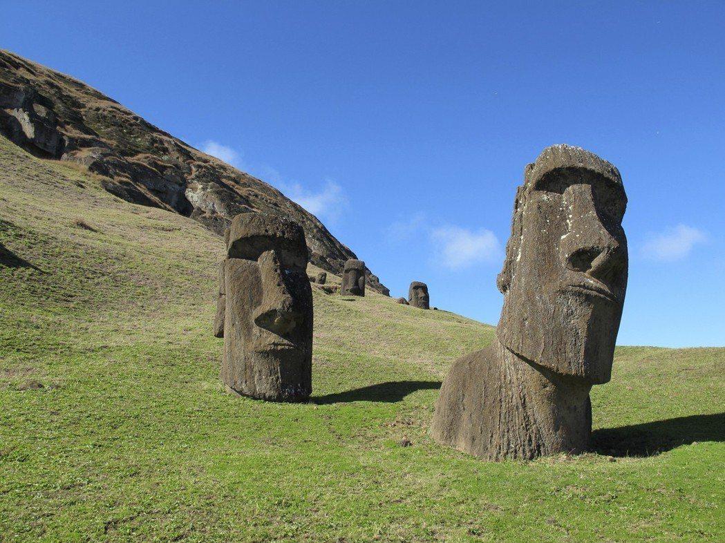 智利觀光景點復活島(Easter Island)。 美聯社