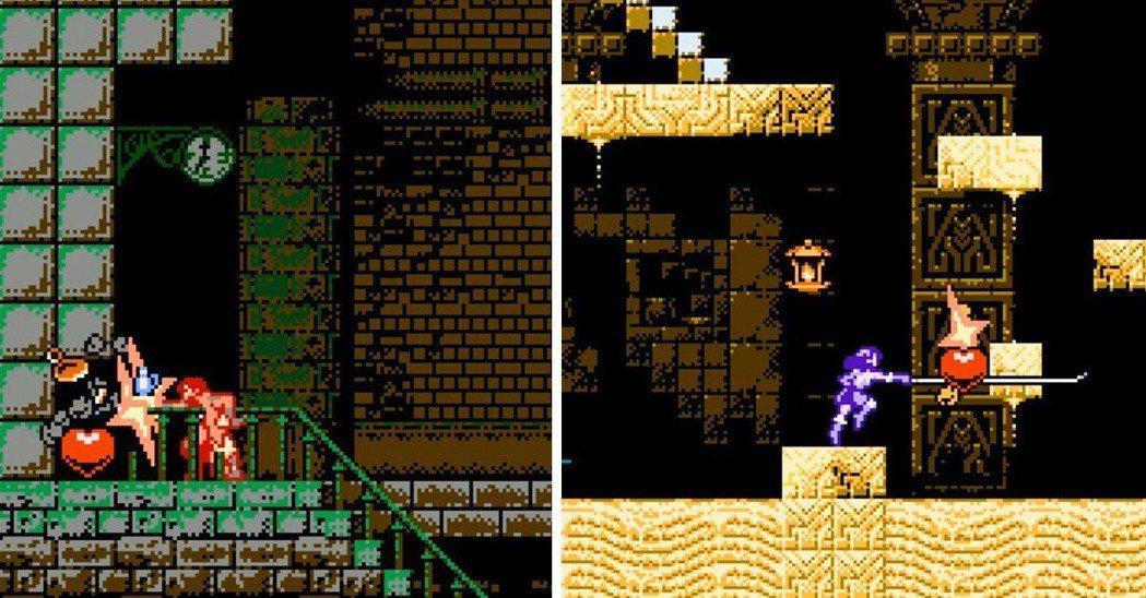 在牆壁裡面藏有寶物可以說是惡魔城的傳統,玩家們總會喜歡看到牆壁就去敲敲,發現驚喜...