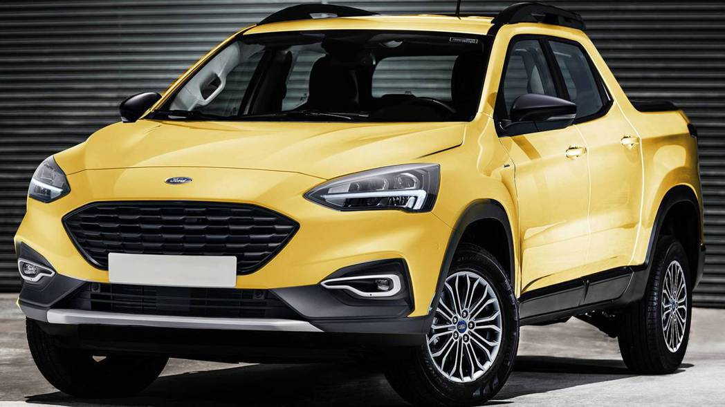 新一代Ford Courier將以Focus的C2平台打造。 摘自Motor1