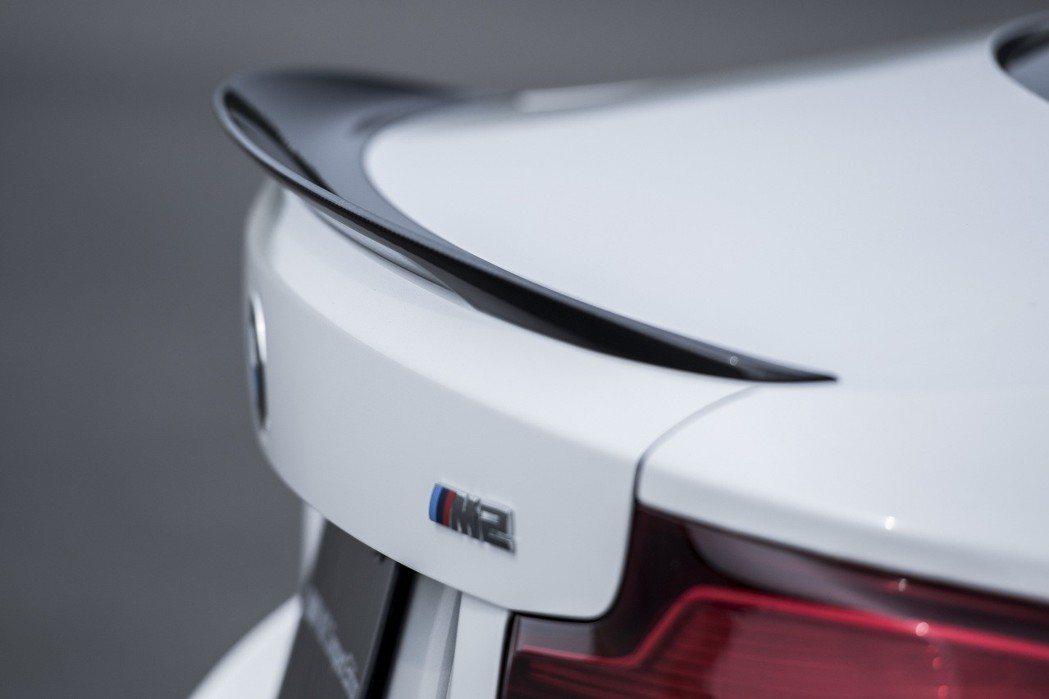 M Performance碳纖維尾翼。 圖/汎德提供