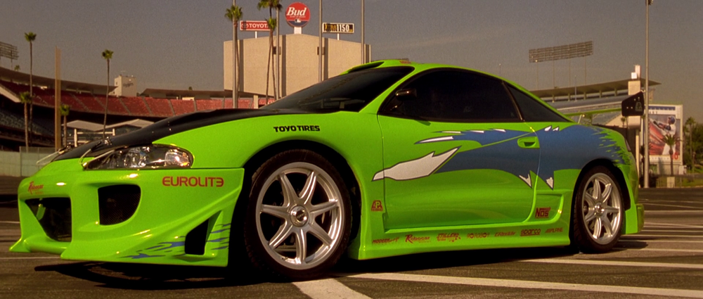 1995 Mitsubishi Eclipse。 摘自The Fast and the Furious Wiki