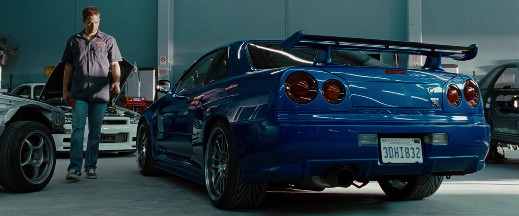 2002 Nissan Skyline GT-R R34。 摘自The Fast and the Furious Wiki