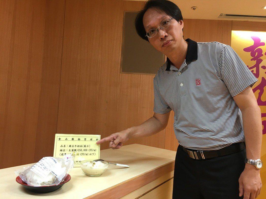 新北市衛生局副局長許朝程指出,生菌數、大腸桿菌群及大腸桿菌為飲冰品之衛生指標,超...