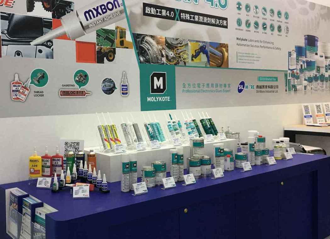 喬越集團在臺北國際自動化工業大展展出各種自動化設備潤滑油及電子膠材產品。 喬越集...