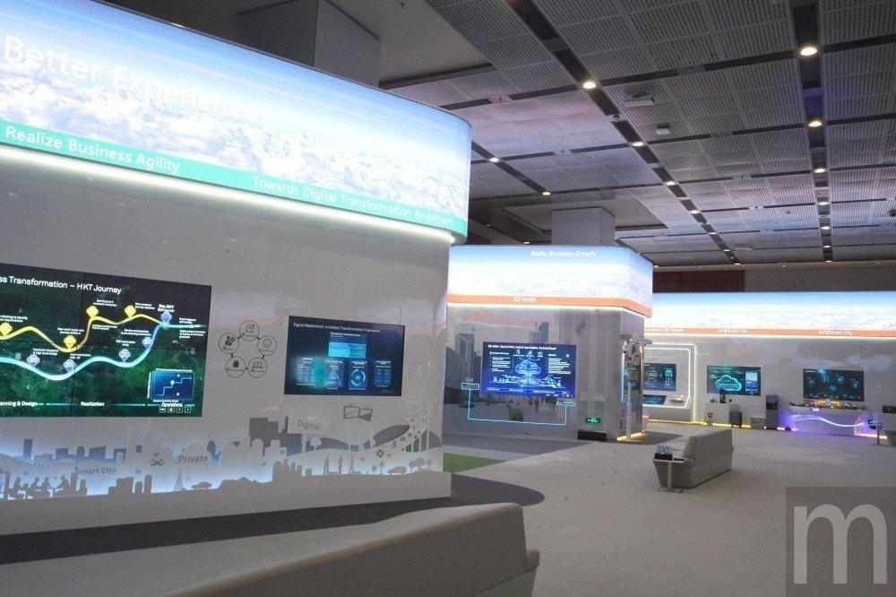 阪田園區展示不少華為已經,或即將投入應用技術能力