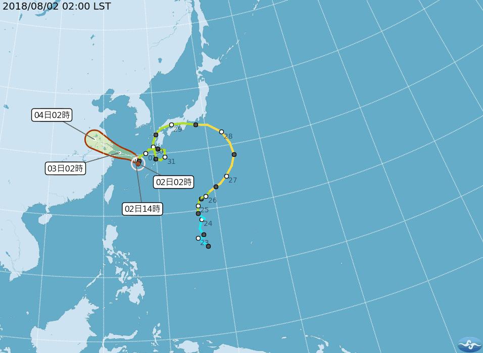 彭啟明表示,雲雀颱風目前正位於東海上,將持續往西,往長江口附近移動,環流在今天深...