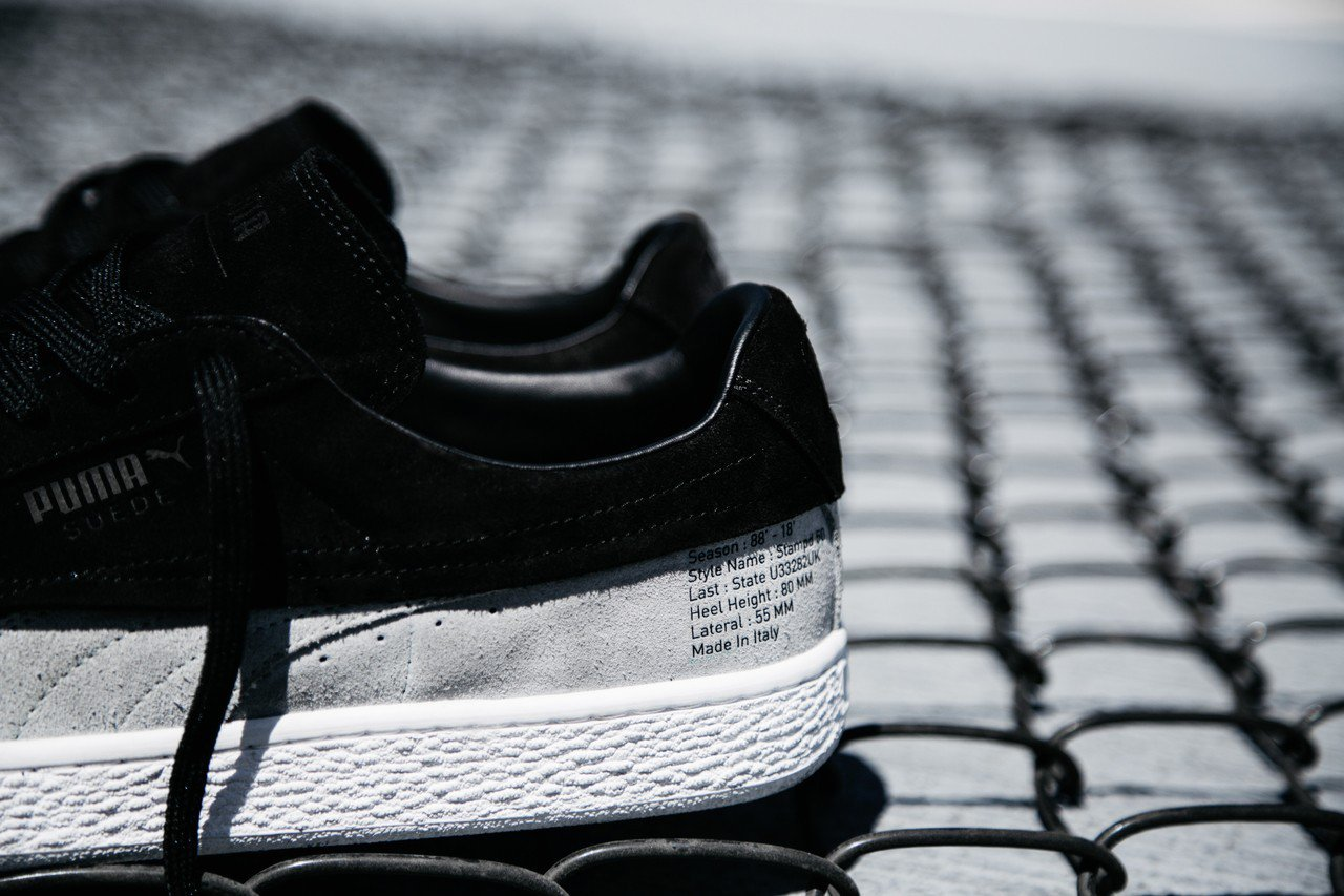 88-18 Suede Classic x STAMPD鞋,鞋根側邊印上這雙時尚...