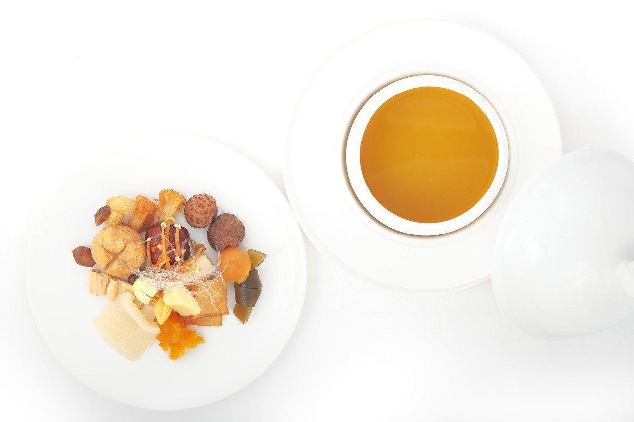 大蔬無界的素食佛跳牆福壽全。圖/蘭餐廳提供