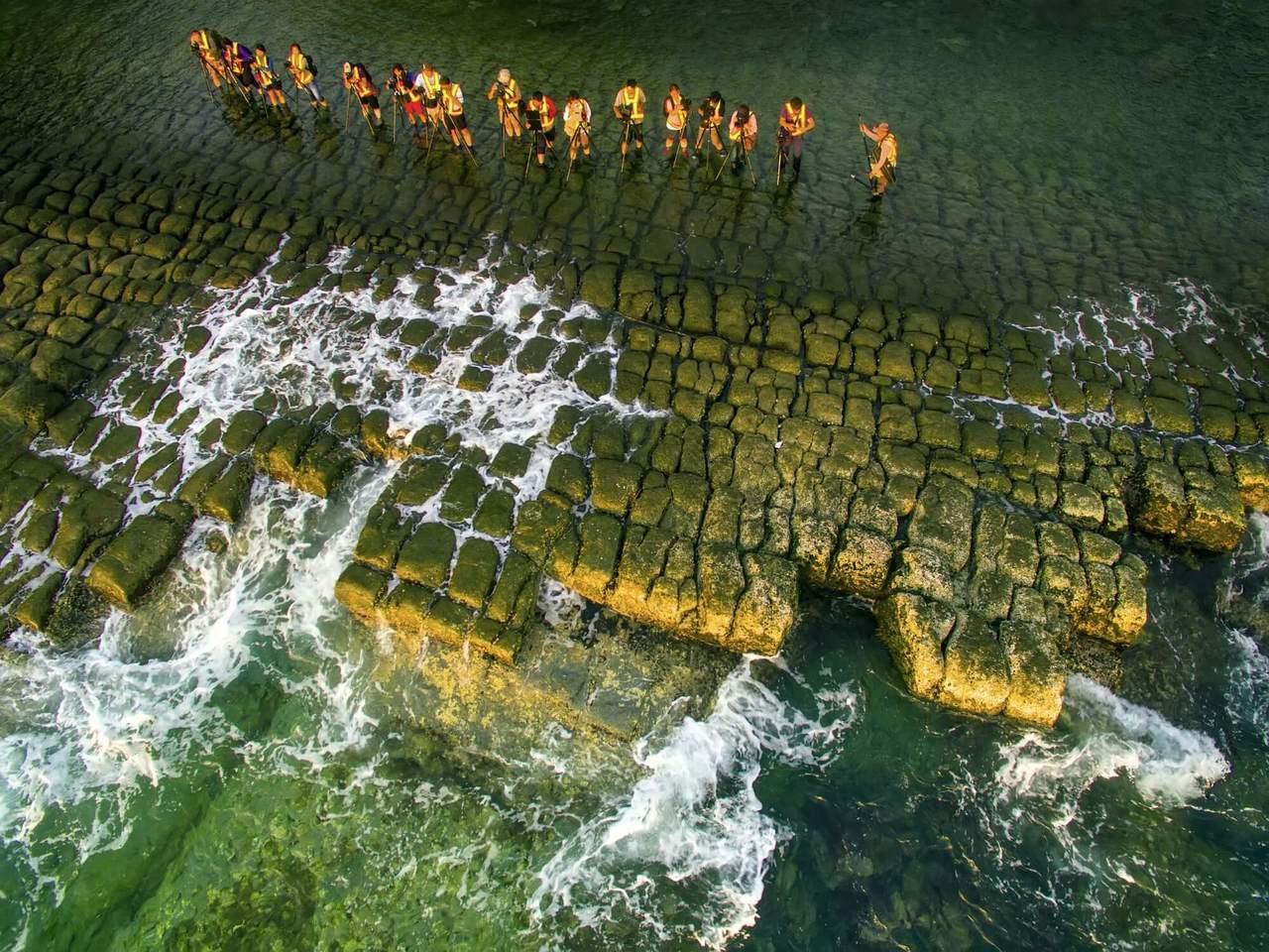 基隆和平島公園擁有豐富的海蝕地質景觀。圖/北觀處提供