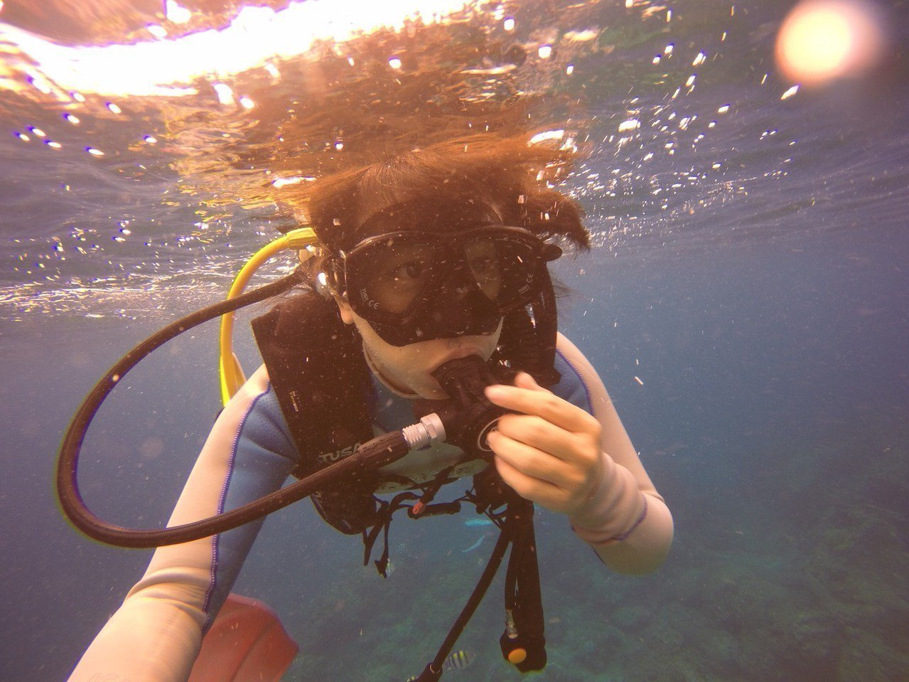 潛水24小時內搭機,恐會引發潛水伕症。記者魏妤庭/攝影