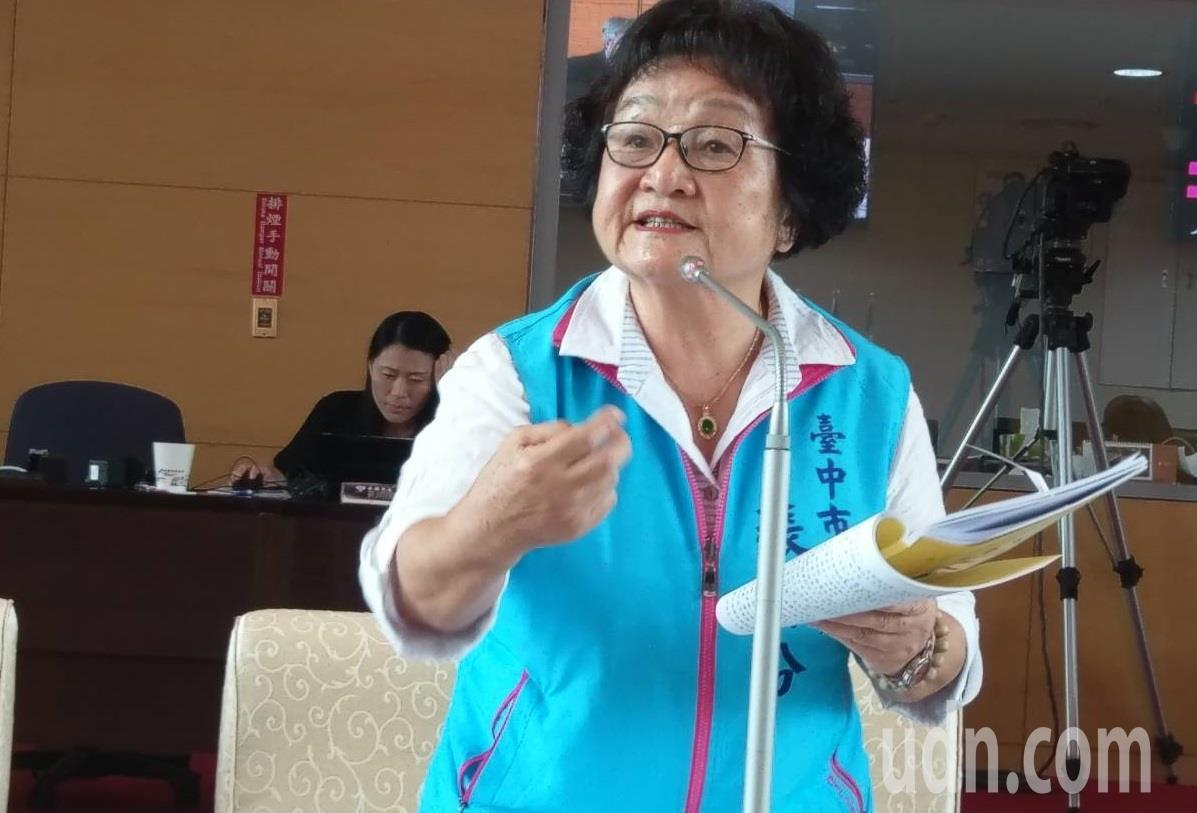 市議員張瀞分抨擊林佳龍只會膨風說好聽話。記者陳秋雲/攝影
