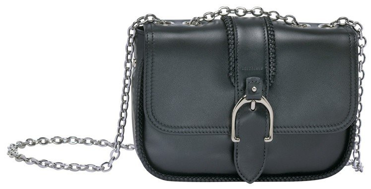 Amazone黑色迷你肩背包,售價22,200元。圖/LONGCHAMP提供