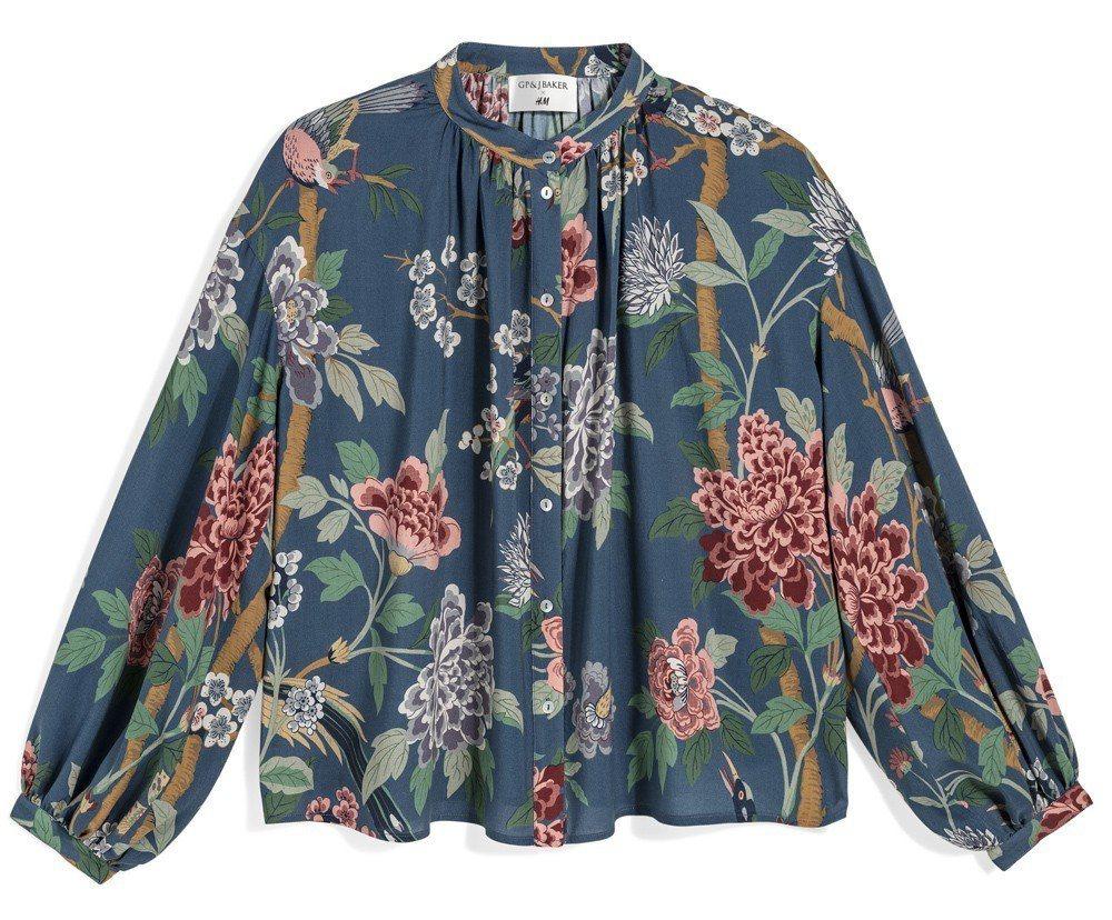 GP & J Baker與H&M聯名系列上衣,約399元。圖/H&M提供