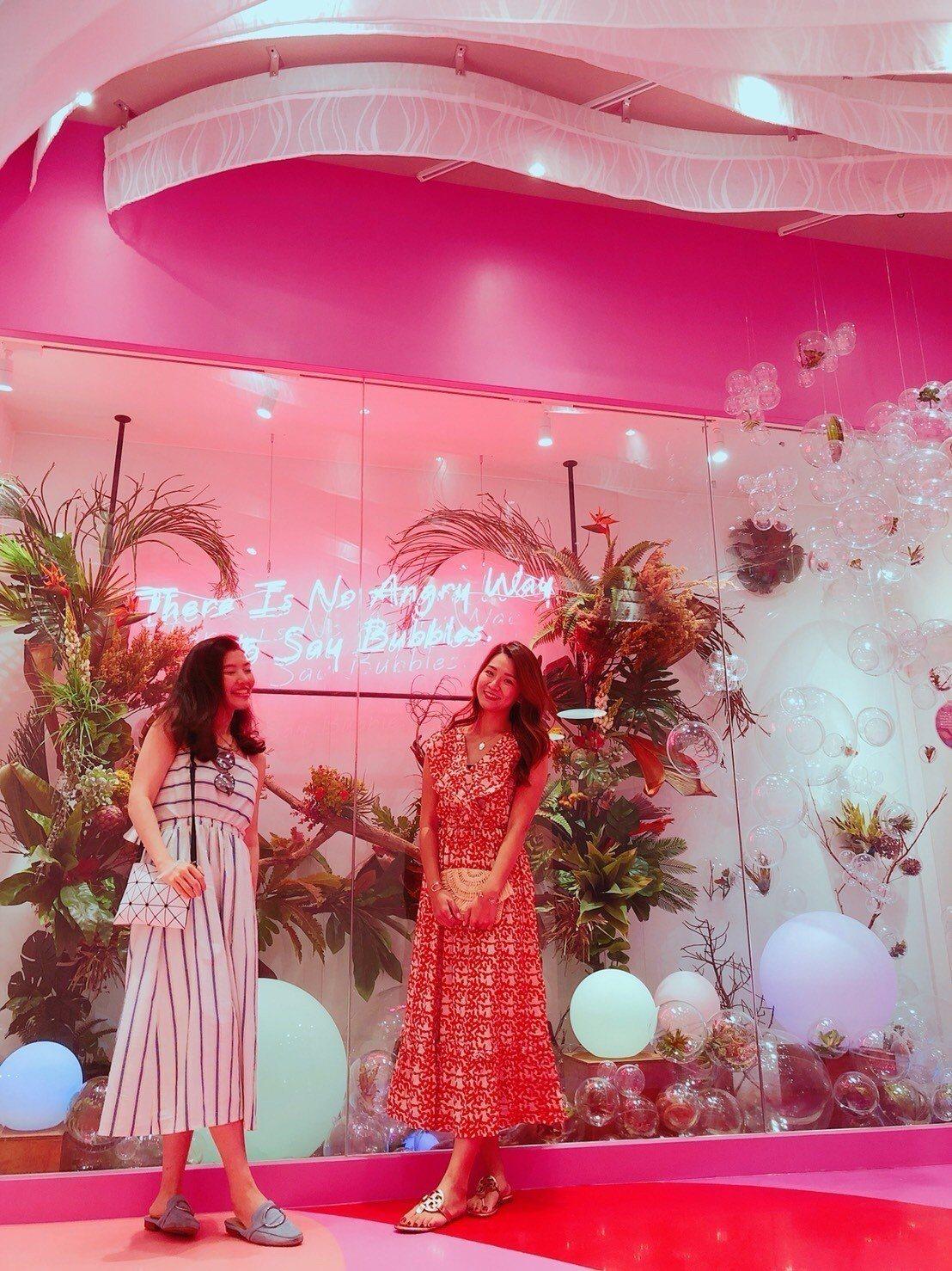 粉紅與泡泡,是兩大關鍵字。圖/煙波飯店宜蘭館提供