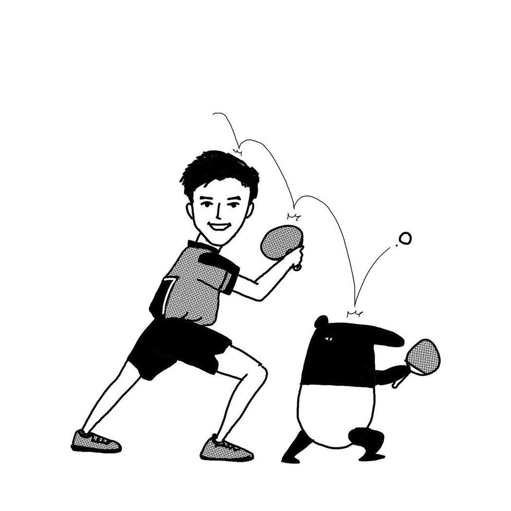 江宏傑漫畫版。圖/華研提供