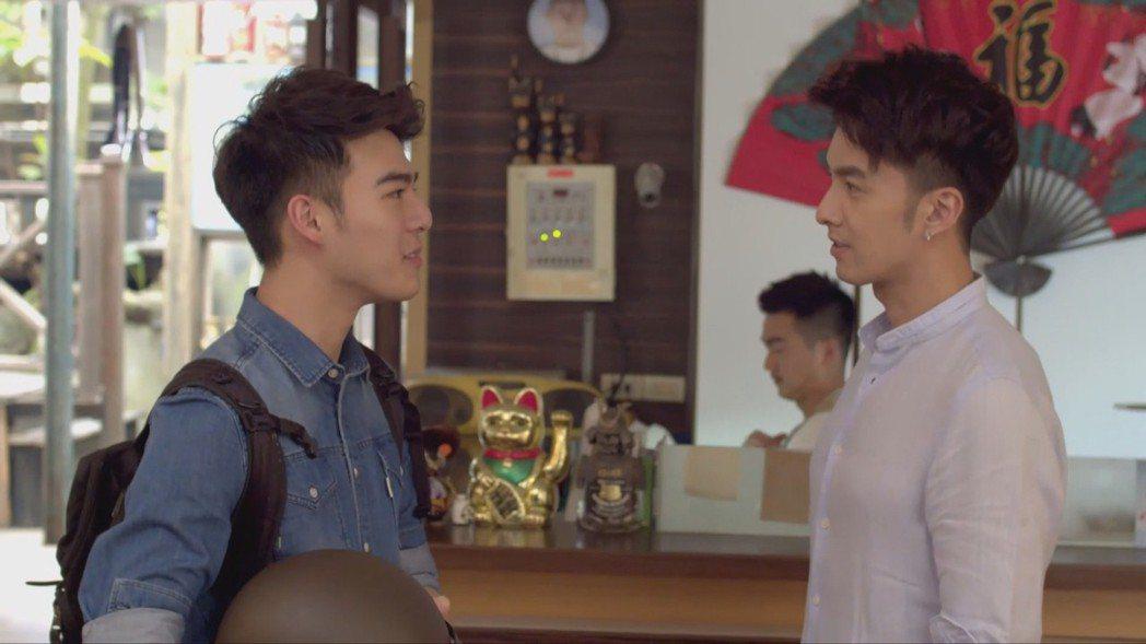 粉絲敲碗看陳昊森(左)與張雁名男男CP。圖/KKTV提供