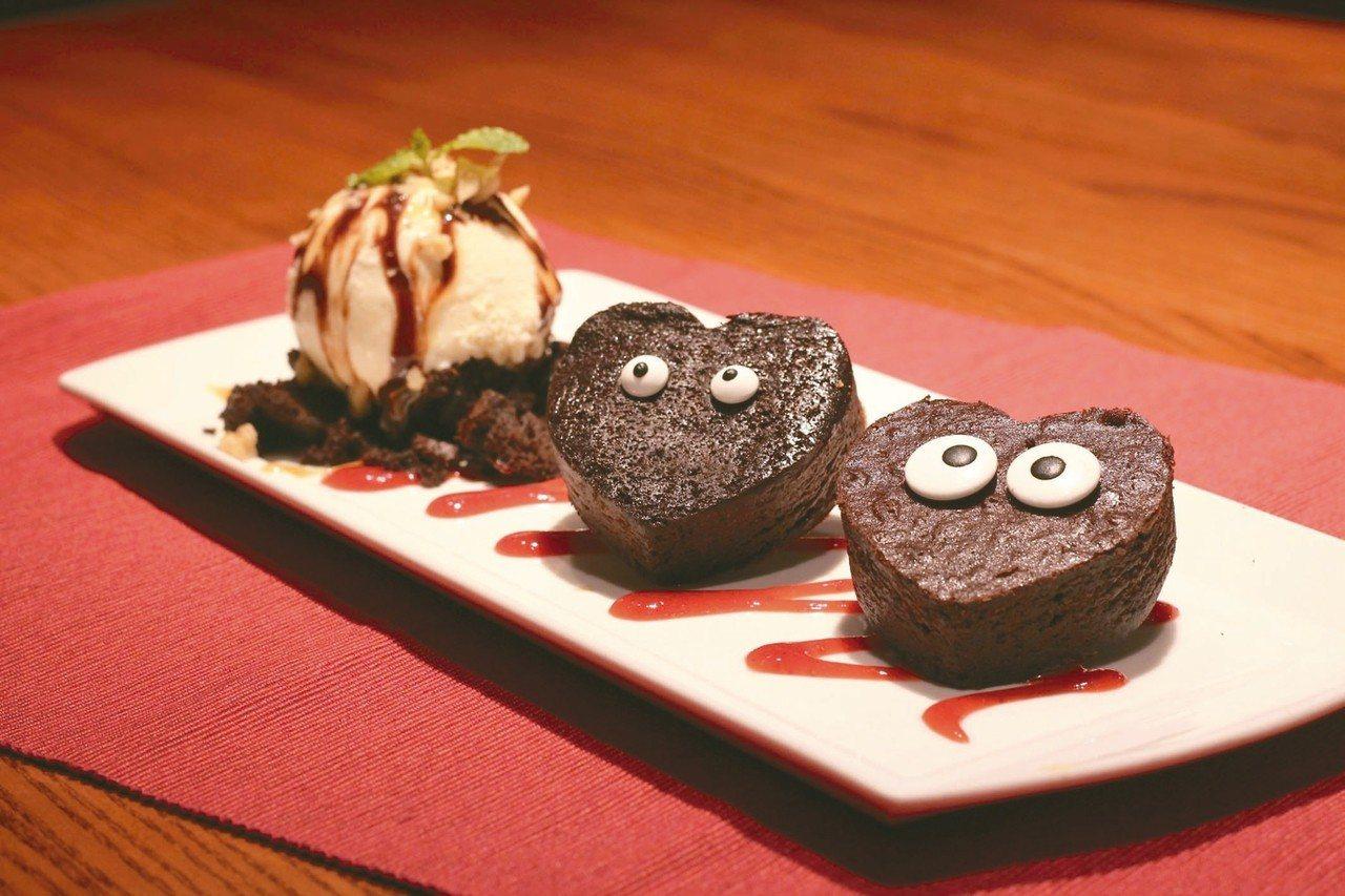 TGI FRIDAYS於8月7日到8月20日間,推出期間限定甜點「大小眼甜心布朗...