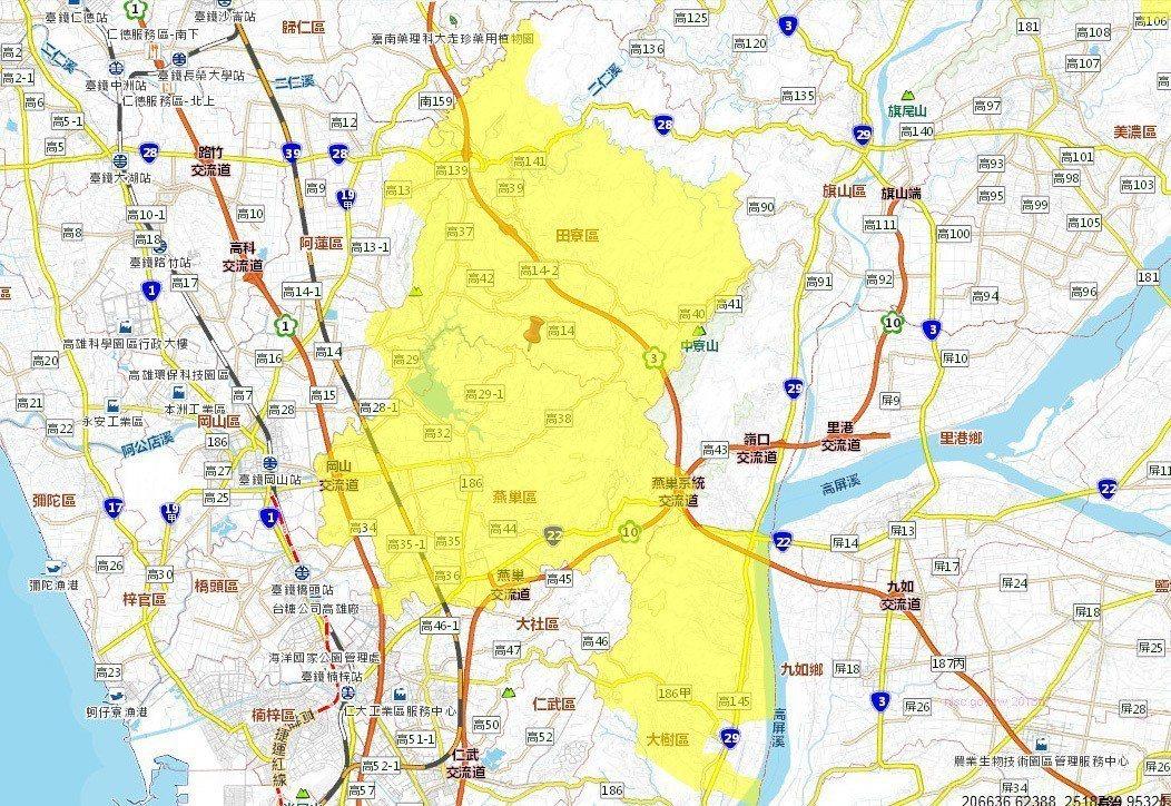 高雄市區將停水時間23小時,影響高雄市6個行政區、用水戶1萬戶。圖擷自台灣自來水...