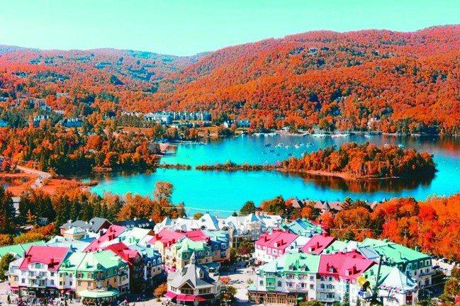川普朗度假村有「加東賞楓第一特區」之稱。 圖/有行旅提供