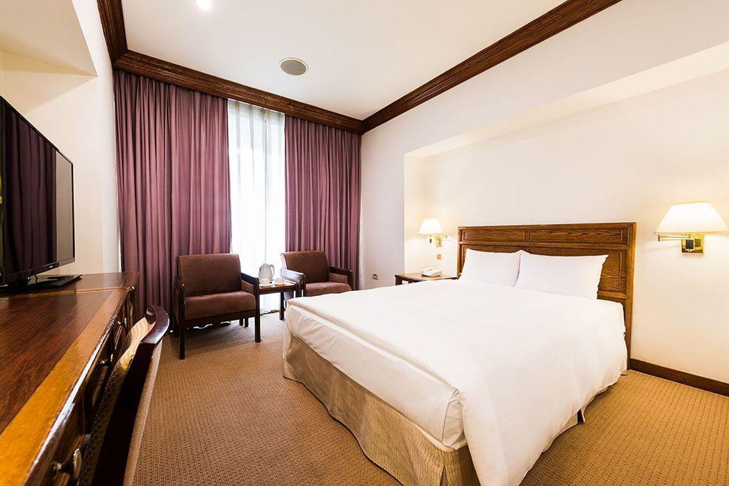 飯店內的標準單床房。  台南大飯店 提供