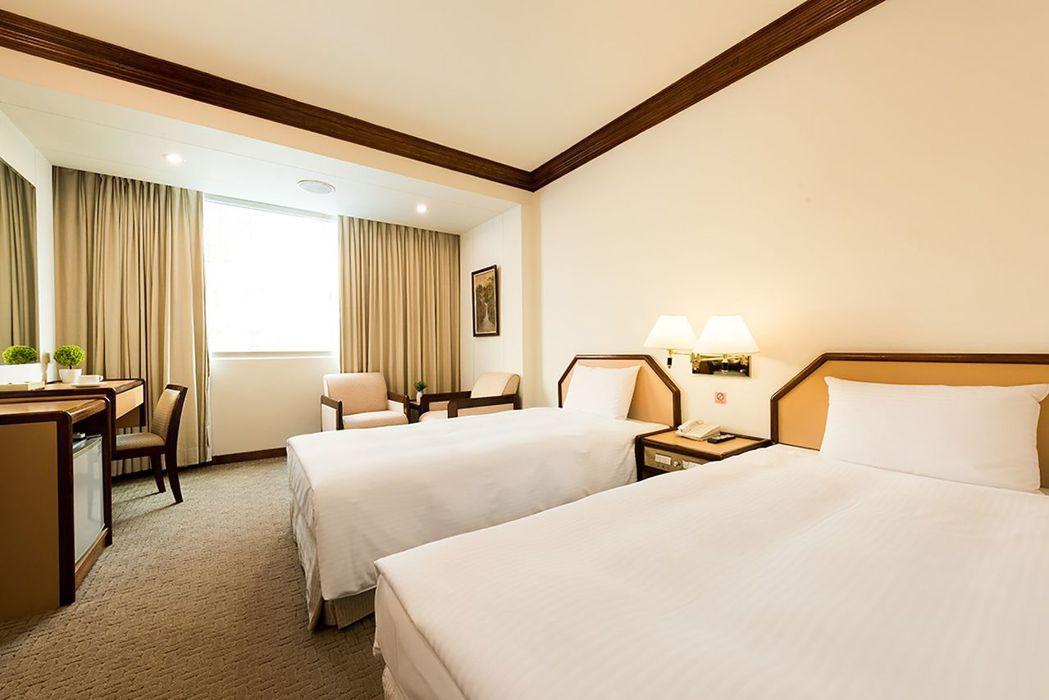 飯店標準雙床房。  台南大飯店 提供